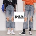 กางเกงยีนนท์ทรง BoyFriends Distressed Jeans