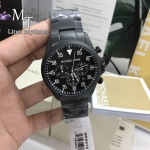 MICHAEL KORS Gage Black Ion-Plated Stainless Steel Chronograph Men's Watch MK8414