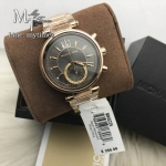 นาฬิกาข้อมือ MICHAEL KORS รุ่น Sawyer Grey Dial Rose Gold-plated Ladies Watch MK6226