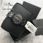 Marc by Marc Jacobs Women's MBM3425 Baker Rhinestone-Accented Black Bracelet Watch
