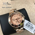 นาฬิกาข้อมือ Marc by Marc Jacobs Blade Chronograph Rose Dial Ladies Watch MBM3102