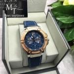 GUESS Multifunction Blue Leather Strap W0040G6