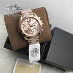 MICHAEL KORS Bradshaw Mini Chronograph Rose Dial Rose Gold-tone Ladies Watch MK6066