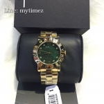 MARC BY MARC JACOBS Women's Amy Mother of Pearl Emerald Dial MBM8609
