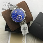 MICHAEL KORS Sawyer Blue Dial Stainless Steel Ladies Watch MK6224