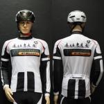 เสื้อปั่นจักรยานแขนยาว ออกแบบเองราคาถูก