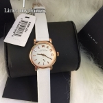 นาฬิกาข้อมือ MARC BY MARC JACOBS Baker White Dial White Leather Band Ladies Watch MBM1284
