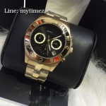 นาฬิกาข้อมือ Marc By Marc Jacobs รุ่น Blade Black Dial Gold Tone Ladies Watch MBM3309