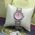 Coach 14502461 Delancey Two-Tone Silver Stainless Steel & Purple Ceramic Women's Watch