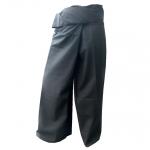 กางเกงขาก๊วยดำ กางเกงเลขายาว สวมใส่สบายเพื่อทำกิจกรรม สันทนาการ