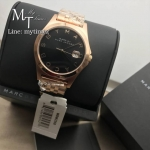 MARC BY MARC JACOBS The Slim Brown Dial Rose Gold-tone Ladies Watch MBM3350