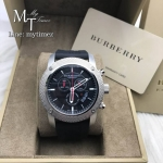 Burberry Endurance Chronograph Black Dial Rubber Strap Men's Watch BU7700