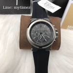 นาฬิกาข้อมือ MICHAEL KORS รุ่น Dylan Chronograph Black Dial Grey Case MK8206