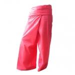 กางเกงเลชมพู กางเกงขาก๊วย สวมใส่สบาย ในวันพักผ่อนอยู่บ้าน