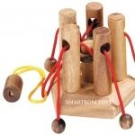 เกมส์ค่ายกลเชือก ของเล่นพัฒนาสมอง ของเล่นพัฒนาสติปัญญา ของเล่นไม้