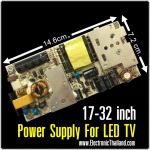 "Power Supply For LED TV 17-32"" OUT-PUT 12V5A P2 68V"