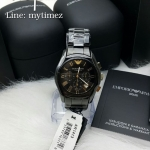 นาฬิกาข้อมือ Emporio Armani Men's Classic Black Ceramica Chronograph AR1413