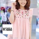 เสื้อแฟชั่น Zara Sweet Floral Embroidery Blouse