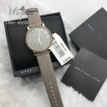 MARC BY MARC JACOBS Baker Grey Dial Gravel Gray Leather Ladies Watch MBM1266