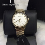 นาฬิกาข้อมือ Marc By Marc Jacobs รุ่น Baker White Dial Gold-Tone Ladies Watch MBM3243