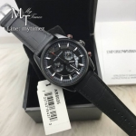 EMPORIO ARMANI Sportivo Black Dial BlackLeather Strap Men's Watch AR6035