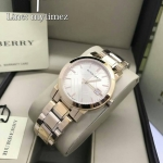 BURBERRY The City Rose Dial Rose Gold-tone Ladies Watch BU9135