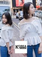 เสื้อเชิ้ตแฟชั่น Koko Off-Shoulder Blouse