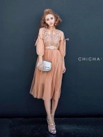 เดรส Cindy Bell Dress wt Belt