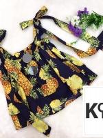 เสื้อแฟชั่นสายเดี่ยวDG Pineapple Summer Collection Top