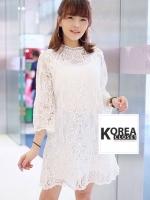ชุดเดรสแฟชั่น Gracy Lace Dress by ChiCha's สีขาว