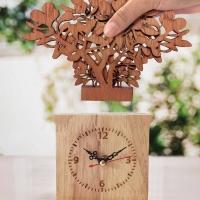 กล่องไม้นาฬิกา ของขวัญของสะสม ของฝากที่ระลึก ของตกแต่งสวยงาม