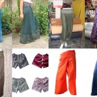 ผ้าฝ้าย ผ้าโทเร ผ้ามัดย้อม กางเกงเล กางสะดอ กางเกงฮาเร็ม