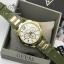 Guess Women's U0325L5 Green Rubber Quartz Watch with Gold Dial thumbnail 3