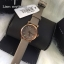 MARC BY MARC JACOBS Baker Mini Rose Gold/Grey Leather Strap Watch MBM1318