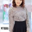 เสื้อแฟชั่น Elegance Lace Blouse by ChiCha's สีเทา thumbnail 1