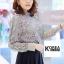 เสื้อแฟชั่น Elegance Lace Blouse by ChiCha's สีเทา thumbnail 4
