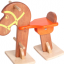 ม้าไม้โยกฝึกเดิน ของเล่นไม้ฝึกทักษะการคเลื่อนไหว ของเล่นฝึกการทรงตัว thumbnail 1