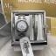 MICHAEL KORS Petite Runway Silver Pave Dial Stainless Steel Ladies Watch MK3303 + Bracelet Set thumbnail 1