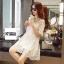 ชุดเดรสแฟชั่น Lilly Cut Shoulder Lace Dress by ChiCha's สีดำ thumbnail 8