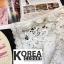 เสื้อแฟชั่น Shot-Sleeve Embroidered Lace Blouse สีดำ thumbnail 10