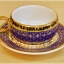 แก้วกาแฟเบญจรงค์ ทรงหูกรรไกร ลายพิกุลทอง ของขวัญ ของฝากที่ระลึก thumbnail 1