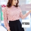 เสื้อแฟชั่น Elegance Lace Blouse by ChiCha's สีเทา thumbnail 5