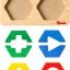 กระดานเรขาคณิตหลากสี ของเล่นเสริมสร้างสติปัญญา ของเล่นฝึกสมอง thumbnail 5