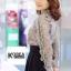 เสื้อแฟชั่น Elegance Lace Blouse by ChiCha's สีเทา thumbnail 2
