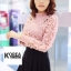 เสื้อแฟชั่น Elegance Lace Blouse by ChiCha's สีเทา thumbnail 6