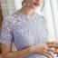 ชุดเดรสMyStyle Lace Dress สีชมพู thumbnail 10