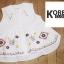 เสื้อแฟชั่น Floral Embroidery Sleeveless Blouse - สีขาว thumbnail 1