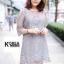ชุดเดรสแฟชั่น Lilly Cut Shoulder Lace Dress by ChiCha's สีดำ thumbnail 5