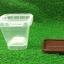 ถ้วยพลาสติกใส่ขนมทรงสี่เหลี่ยม + ฝาสีน้ำตาล 120 ml. thumbnail 6