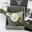 Guess Women's U0325L5 Green Rubber Quartz Watch with Gold Dial thumbnail 2